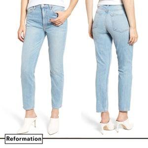 REFORMATION Julia Crop High Waist Cigarette Jean